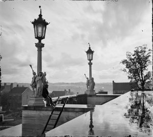 View from capitol in Nashville Tennessee during the civil war in 1864