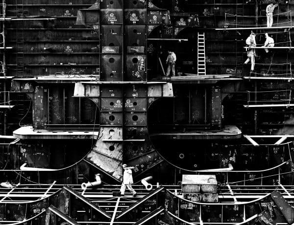 Verolme scheepswerf, Botlek, Rotterdam, 1962 © Aart Klein