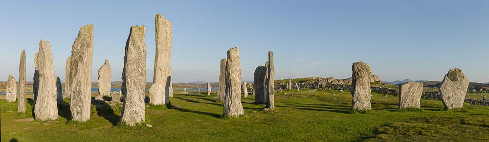 9-6-2013, Lewis, de stenen, het megalitische monument bij avondlicht