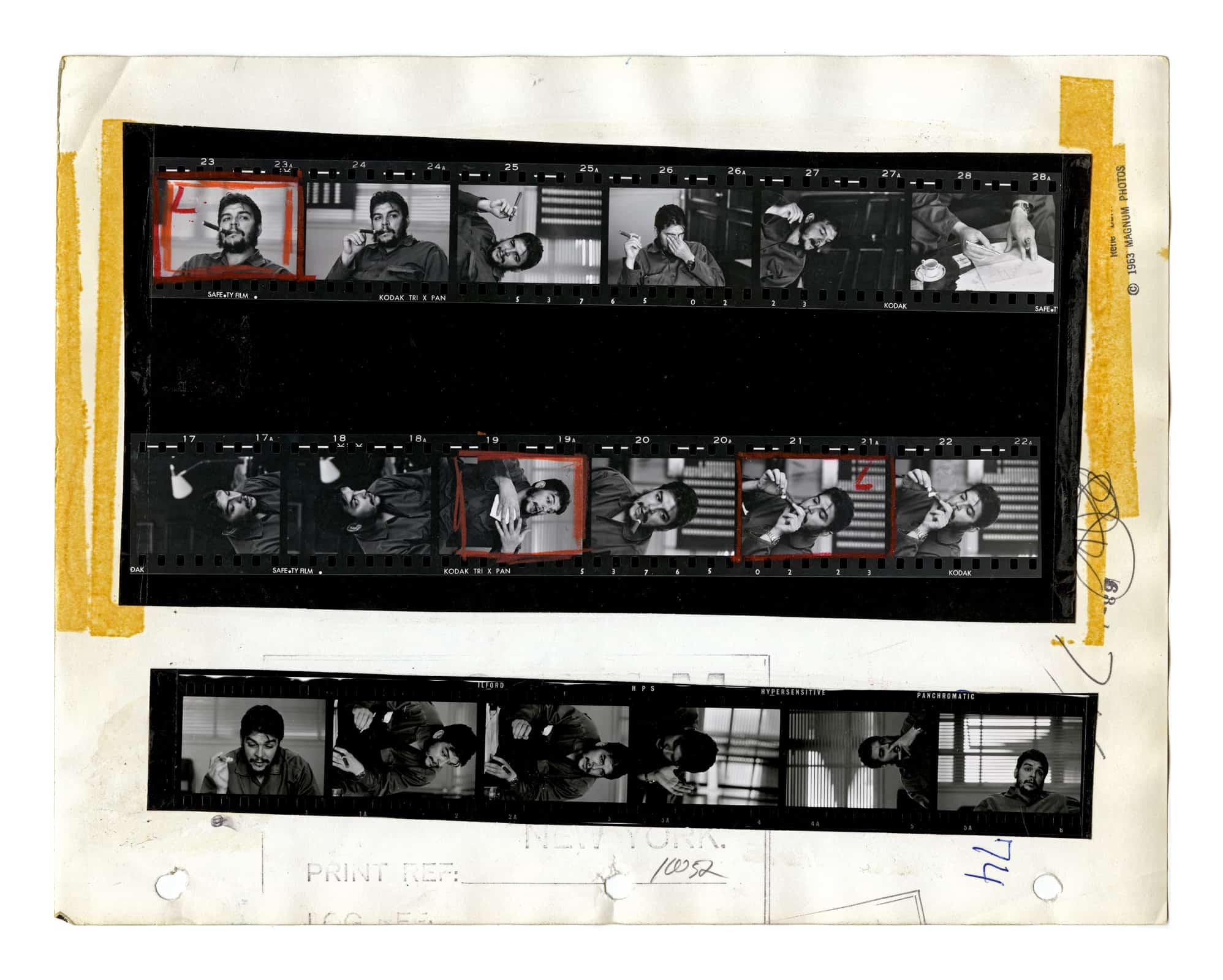 ernesto, che guevara havana, cuba 1963 contact-sheet © rene burri / magnum photos