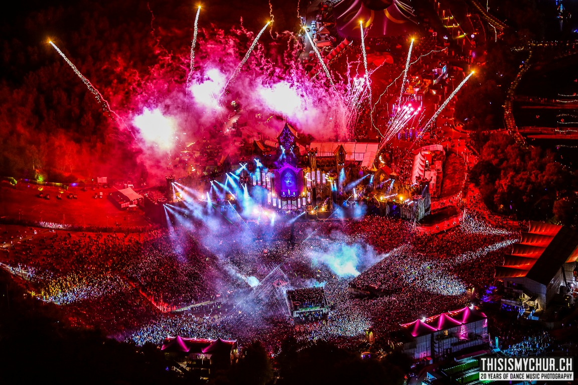 Foto Rutger Geerling - Tomorrowland 2015 vanuit de heli