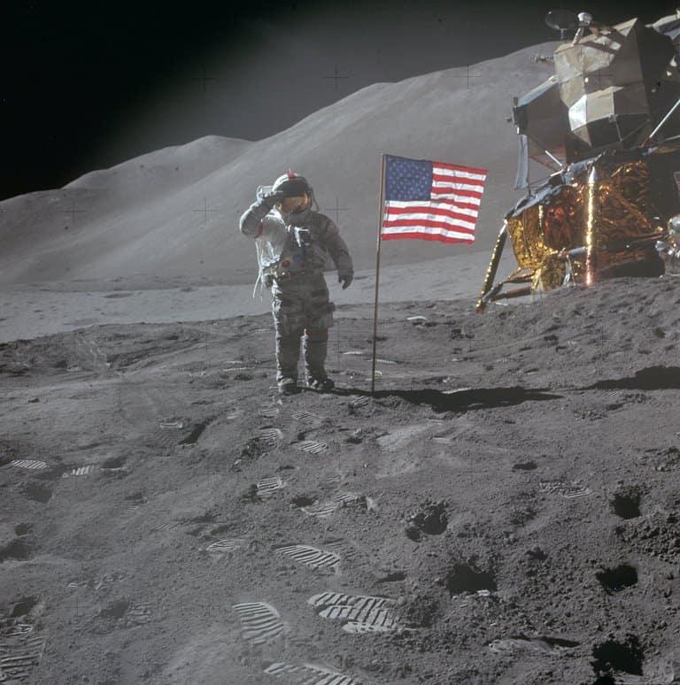 Astronaut Dave Scott - beeld NASA