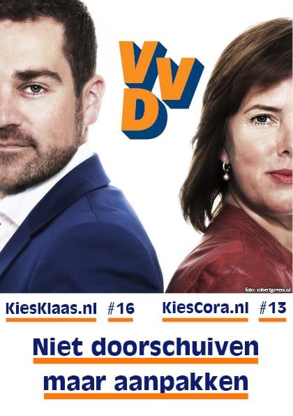 Flyer VVD/foto Robert Govers